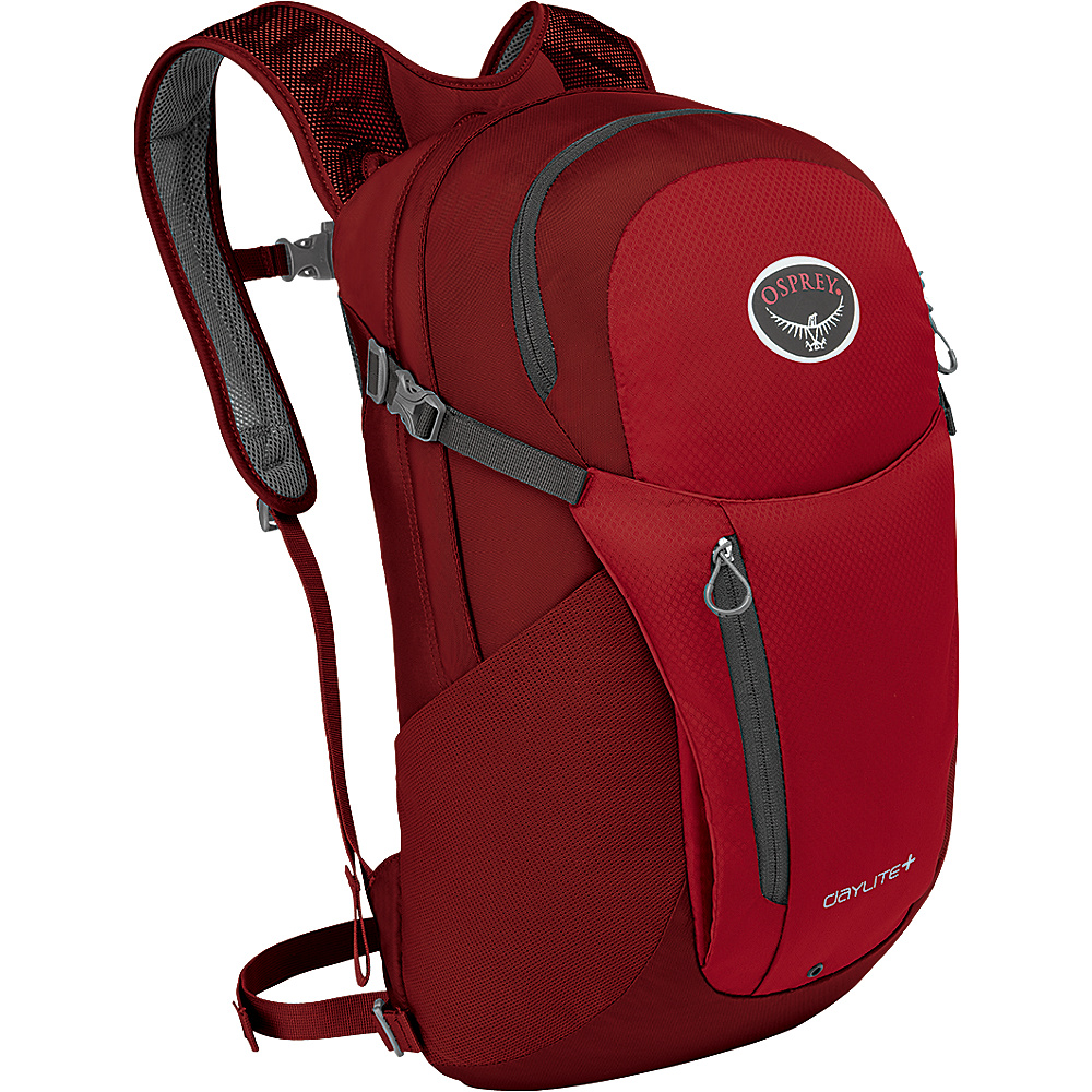 Osprey Daylite Plus Laptop Backpack Real Red - Osprey Day Hiking Backpacks - Outdoor, Day Hiking Backpacks