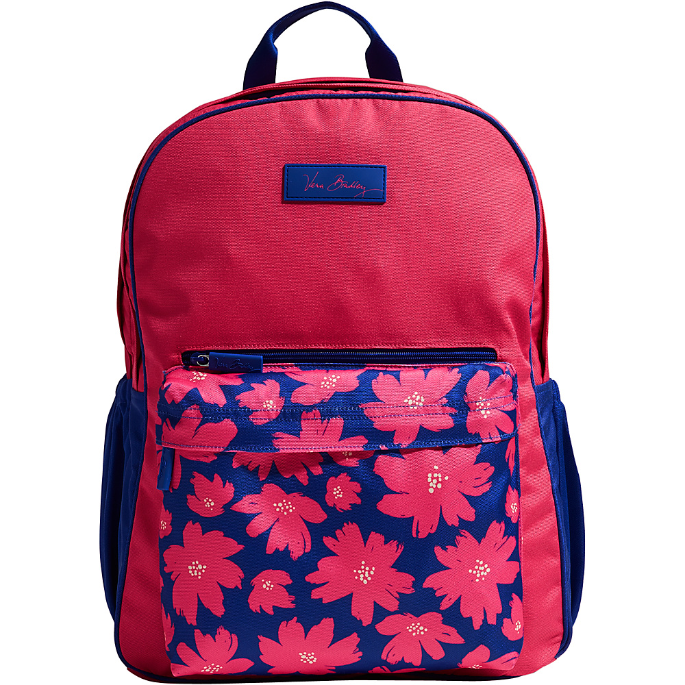 Vera Bradley Large Colorblock Backpack Retired Prints Art Poppies Vera Bradley Business Laptop Backpacks