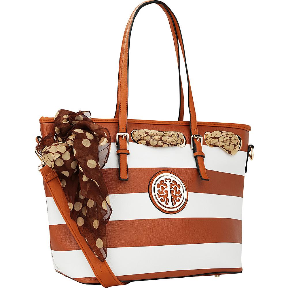 MKF Collection by Mia K. Farrow Emblem Beach Tote Brown - MKF Collection by Mia K. Farrow Manmade Handbags - Handbags, Manmade Handbags