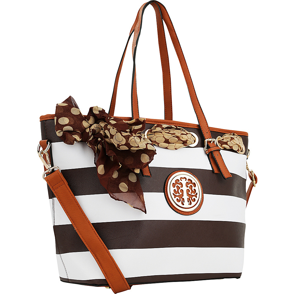 MKF Collection Emblem Beach Tote Coffee - MKF Collection Manmade Handbags