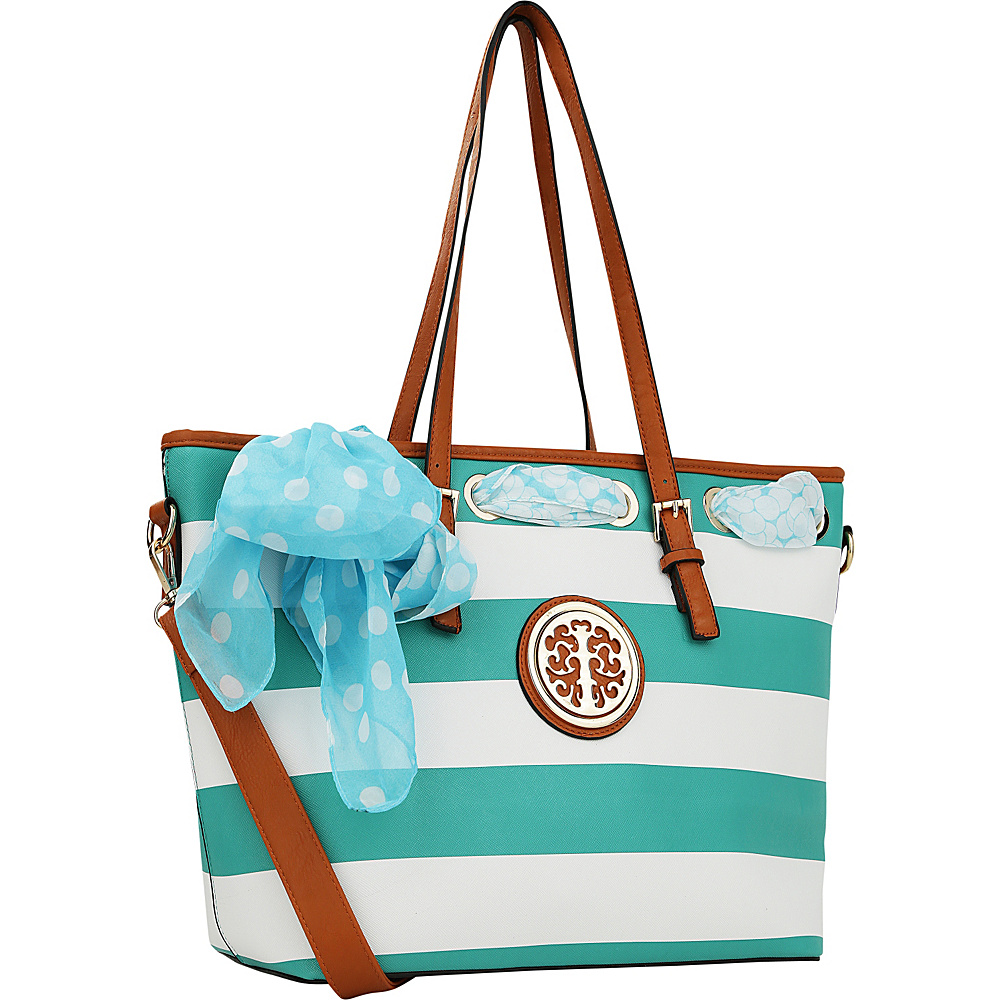 MKF Collection Emblem Beach Tote Light Blue - MKF Collection Manmade Handbags