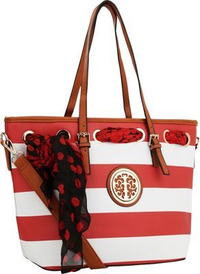 MKF Collection by Mia K. Farrow MKF Collection by Mia K. Farrow Emblem Beach Tote Red - MKF Collection by Mia K. Farrow Manmade Handbags