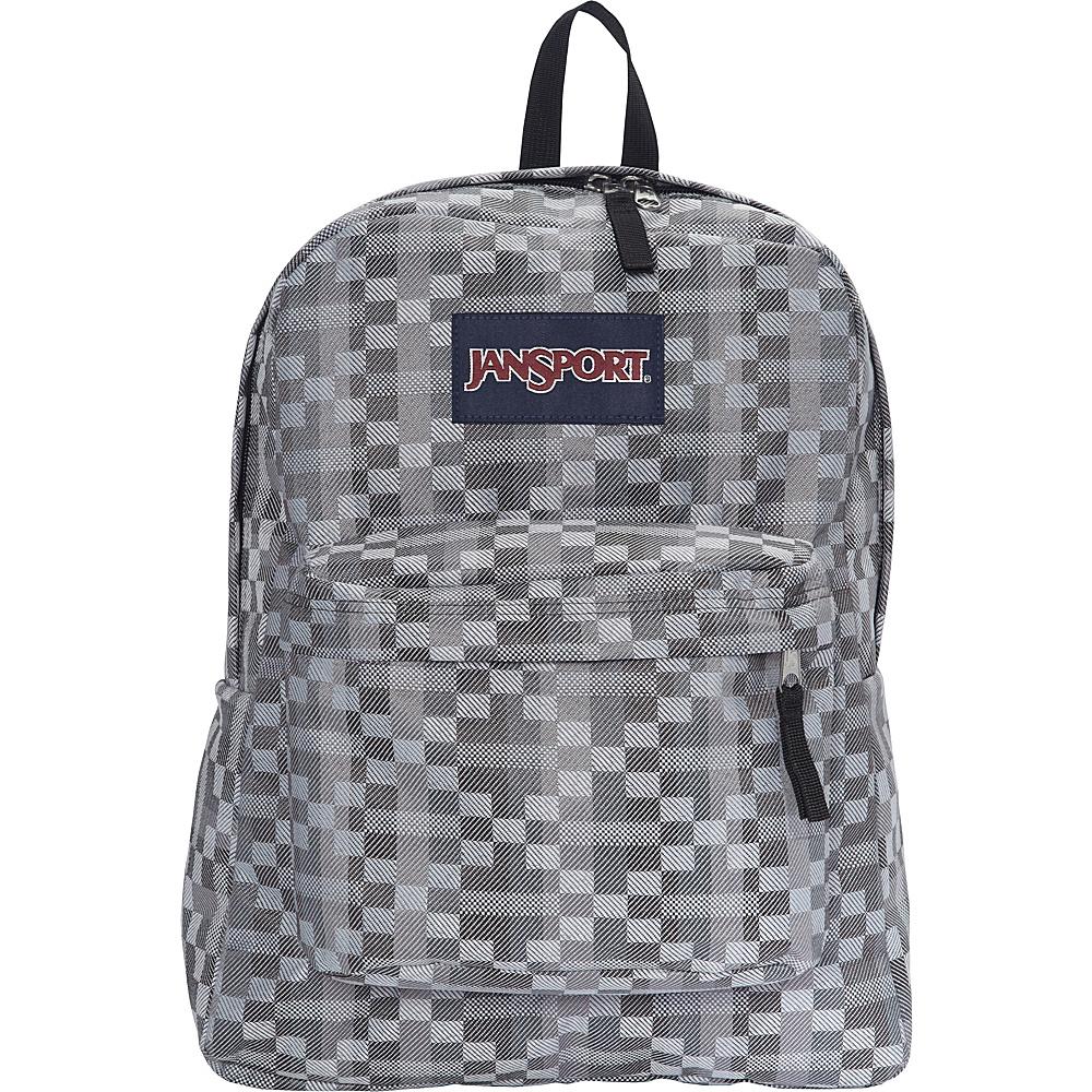 JanSport Superbreak Backpack- Sale Colors Forge Grey Kente - JanSport Everyday Backpacks