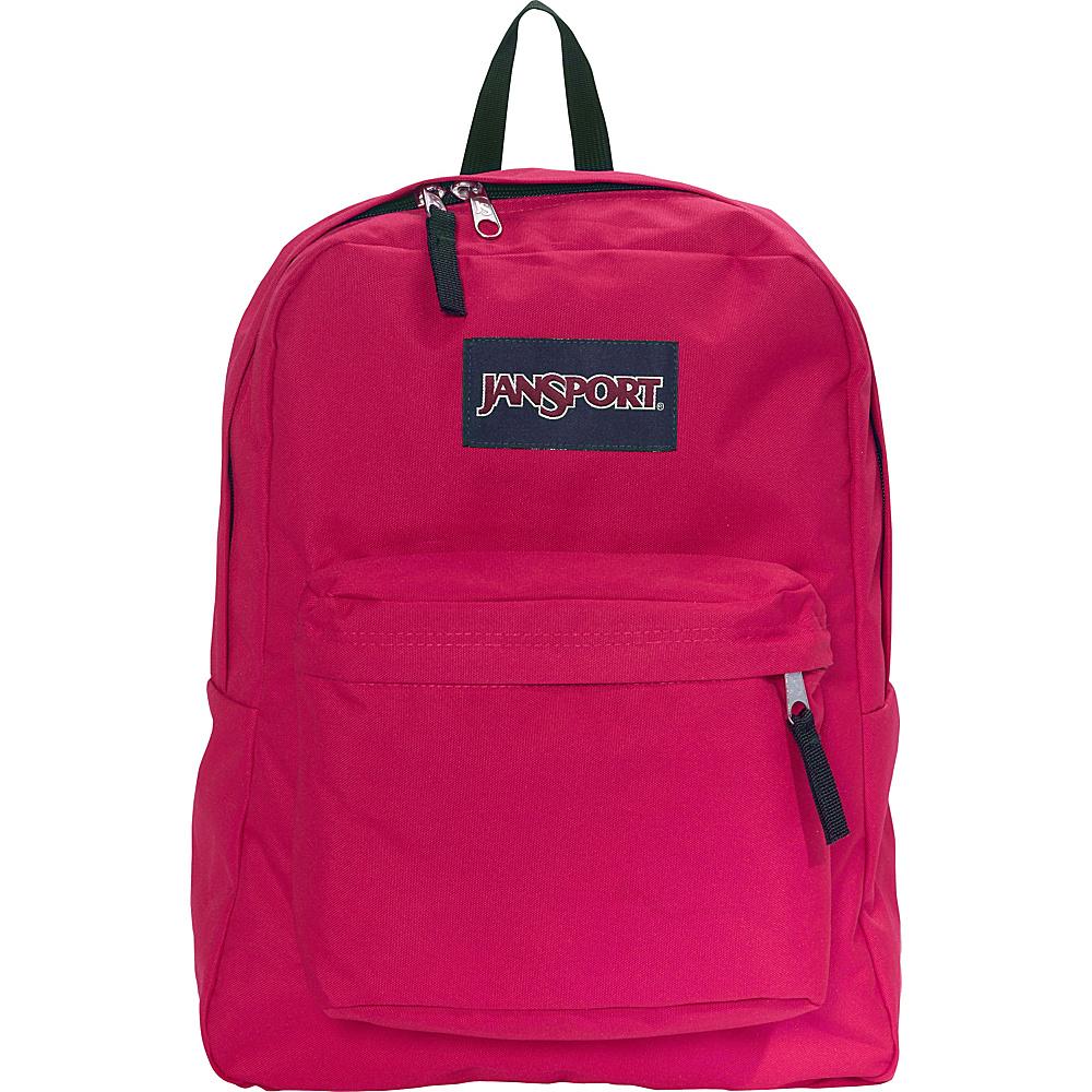 JanSport Superbreak Backpack- Sale Colors Cerise - JanSport Everyday Backpacks