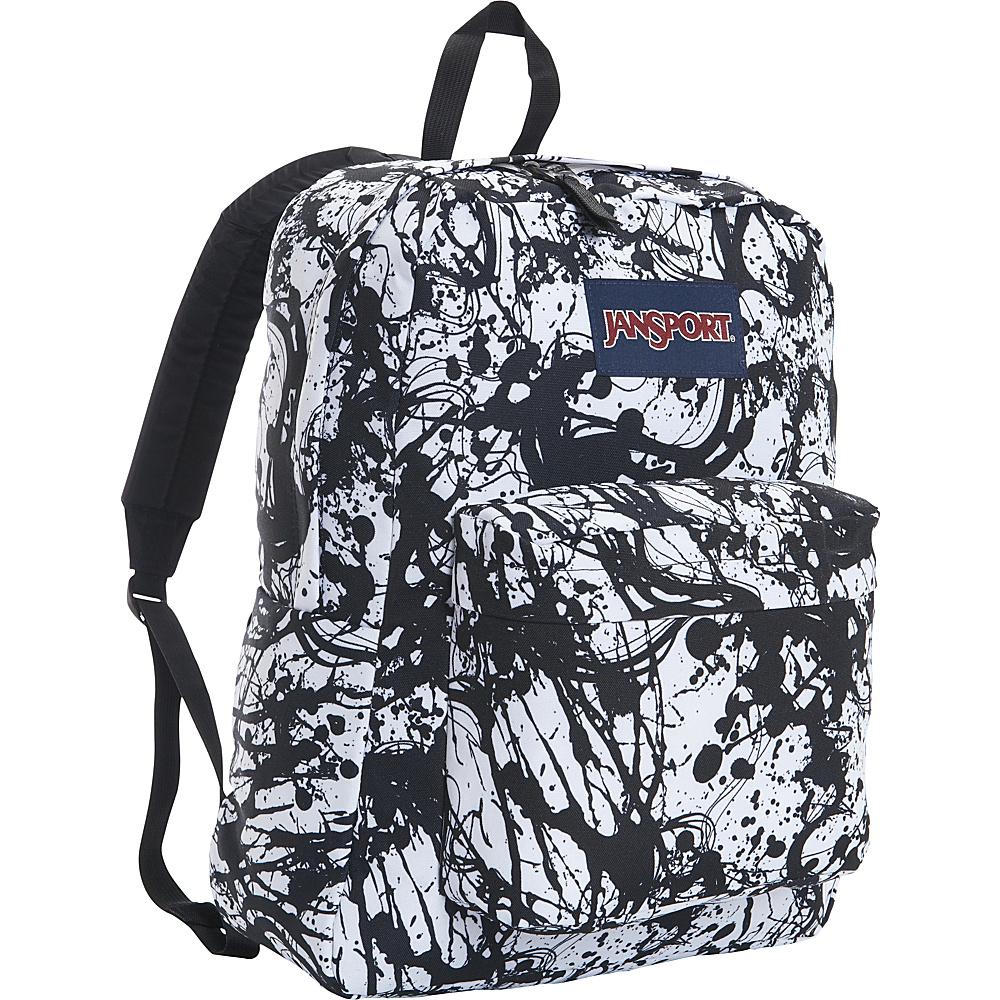 JanSport Superbreak Backpack- Sale Colors Black Paintball - JanSport Everyday Backpacks