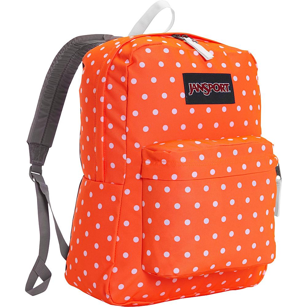 JanSport Superbreak Backpack- Sale Colors Tahitian Orange / White Dots - JanSport Everyday Backpacks