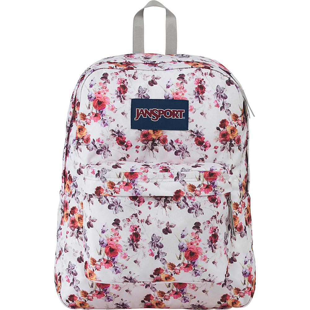 JanSport Superbreak Backpack- Sale Colors Floral Memory - JanSport Everyday Backpacks