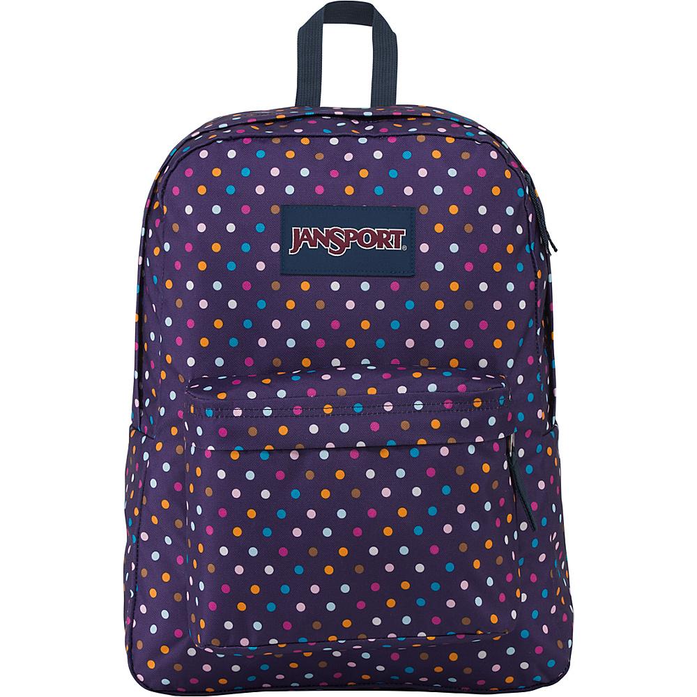 JanSport Superbreak Backpack- Sale Colors Purple Spot-O-Rama - JanSport Everyday Backpacks