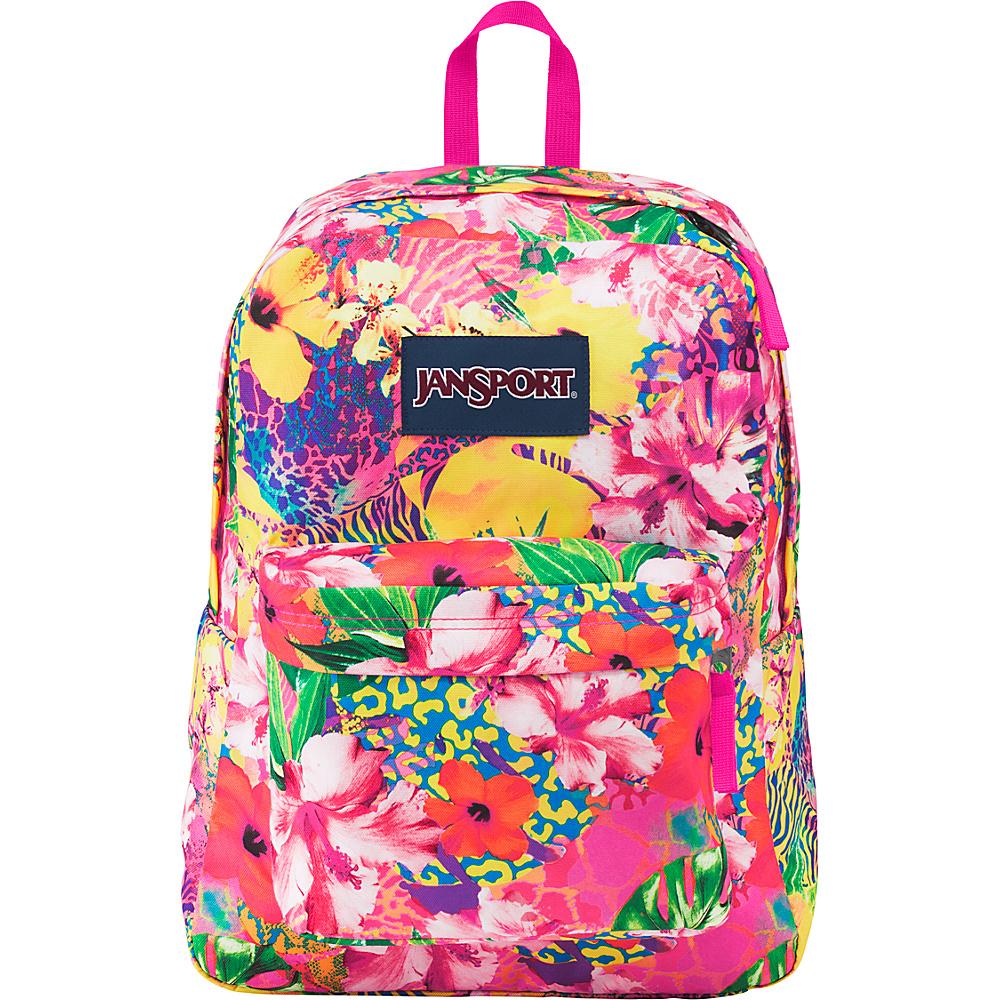 JanSport Superbreak Backpack- Sale Colors Tropical Mania - JanSport Everyday Backpacks