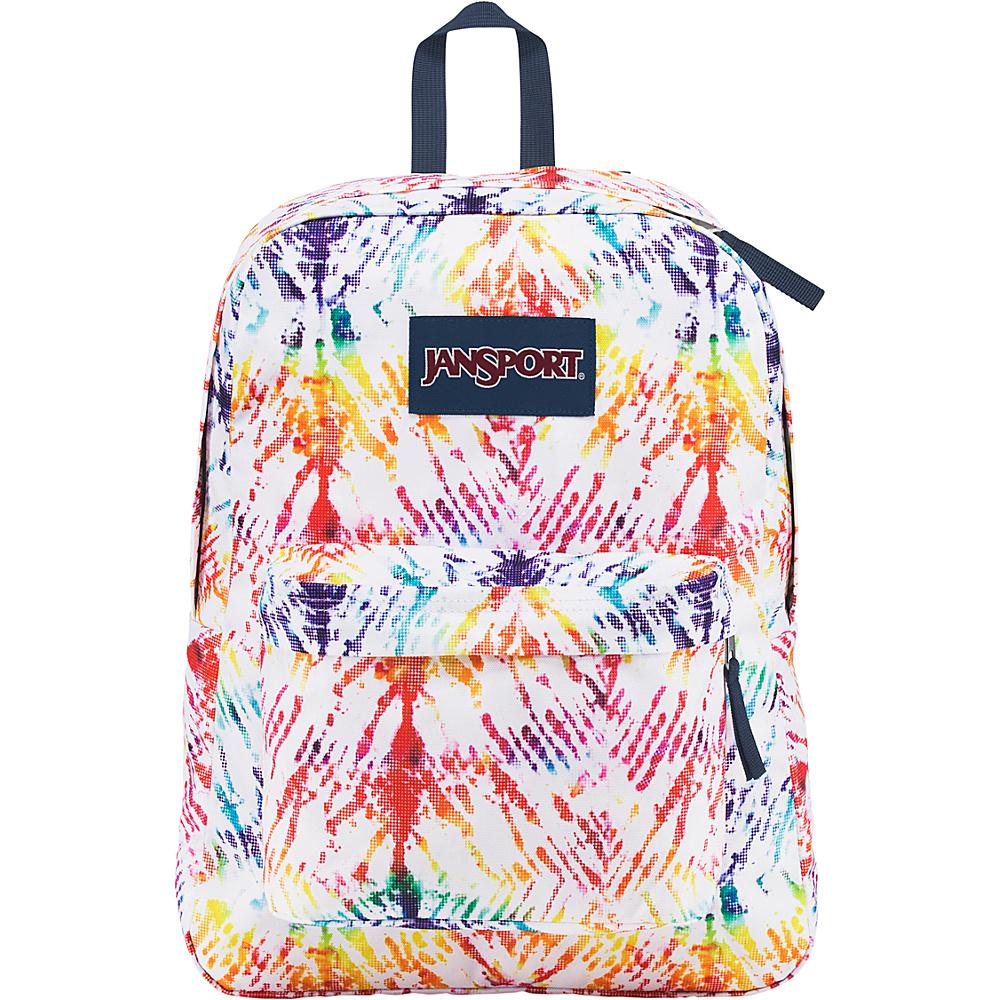 JanSport Superbreak Backpack- Sale Colors Rainbow Tie Dye - JanSport Everyday Backpacks