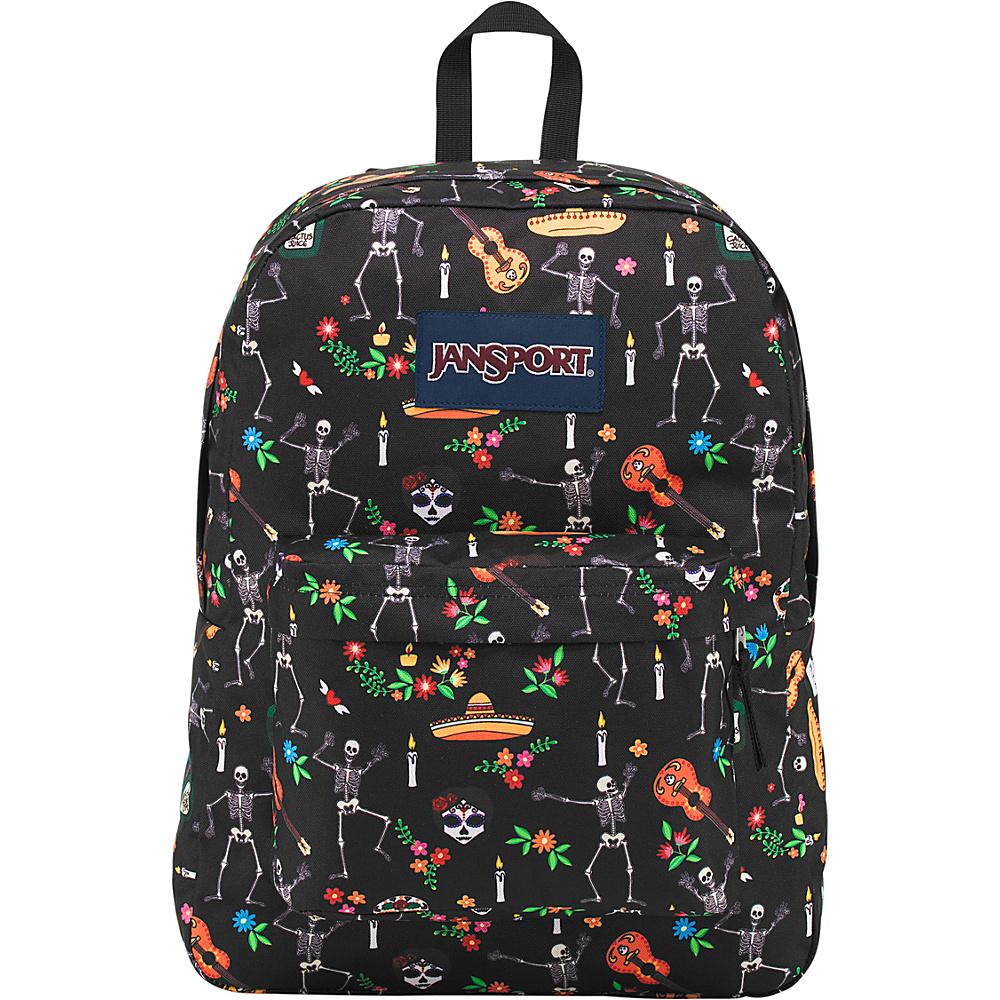 JanSport Superbreak Backpack- Sale Colors Day of the Dead - JanSport Everyday Backpacks