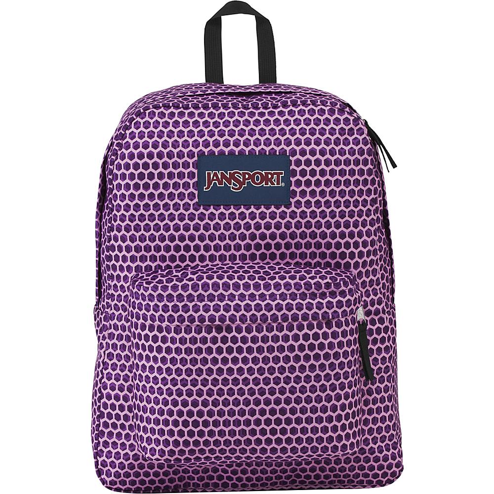 JanSport Superbreak Backpack- Sale Colors Urban Optical Purple - JanSport Everyday Backpacks