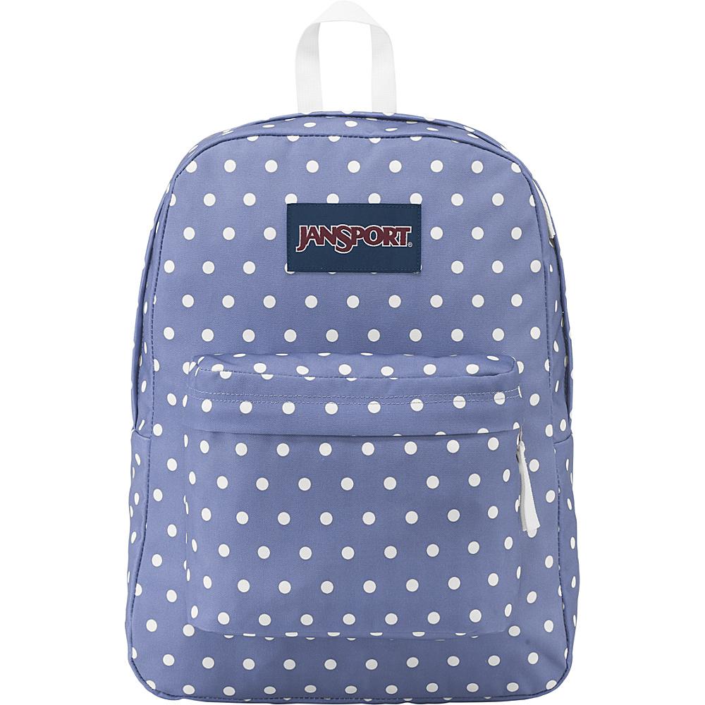 JanSport Superbreak Backpack- Sale Colors Bleached Denim / White Dot - JanSport Everyday Backpacks