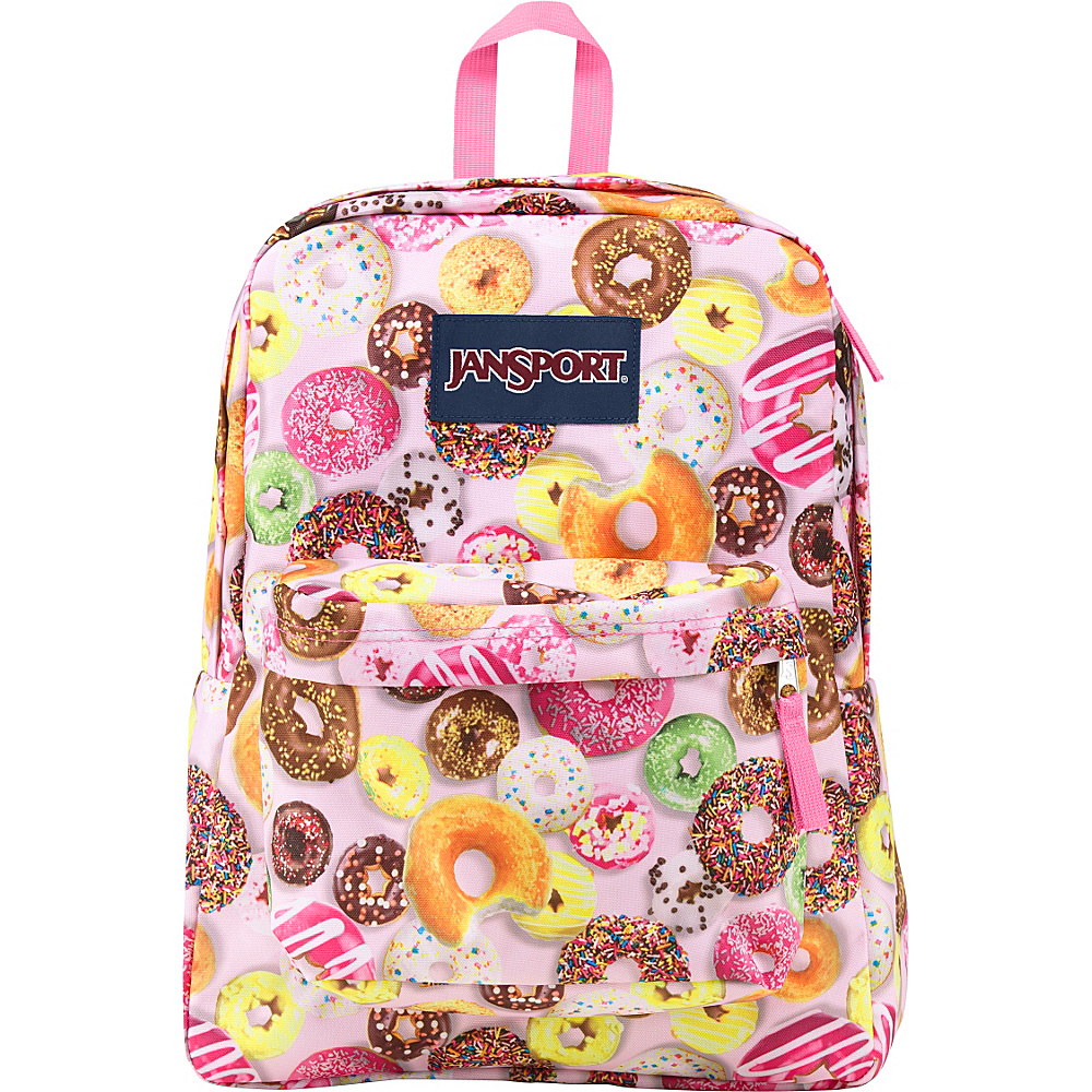 JanSport Superbreak Backpack- Discontinued Colors Multi Donuts - JanSport Everyday Backpacks