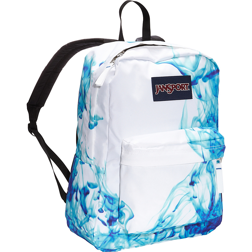 JanSport Superbreak Backpack- Discontinued Colors Multi / Blue Drip Dye - JanSport Everyday Backpacks