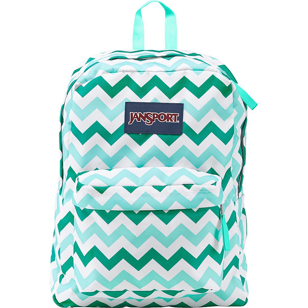 JanSport Superbreak Backpack- Discontinued Colors Aqua Dash Zou Bisou - JanSport Everyday Backpacks - Backpacks, Everyday Backpacks
