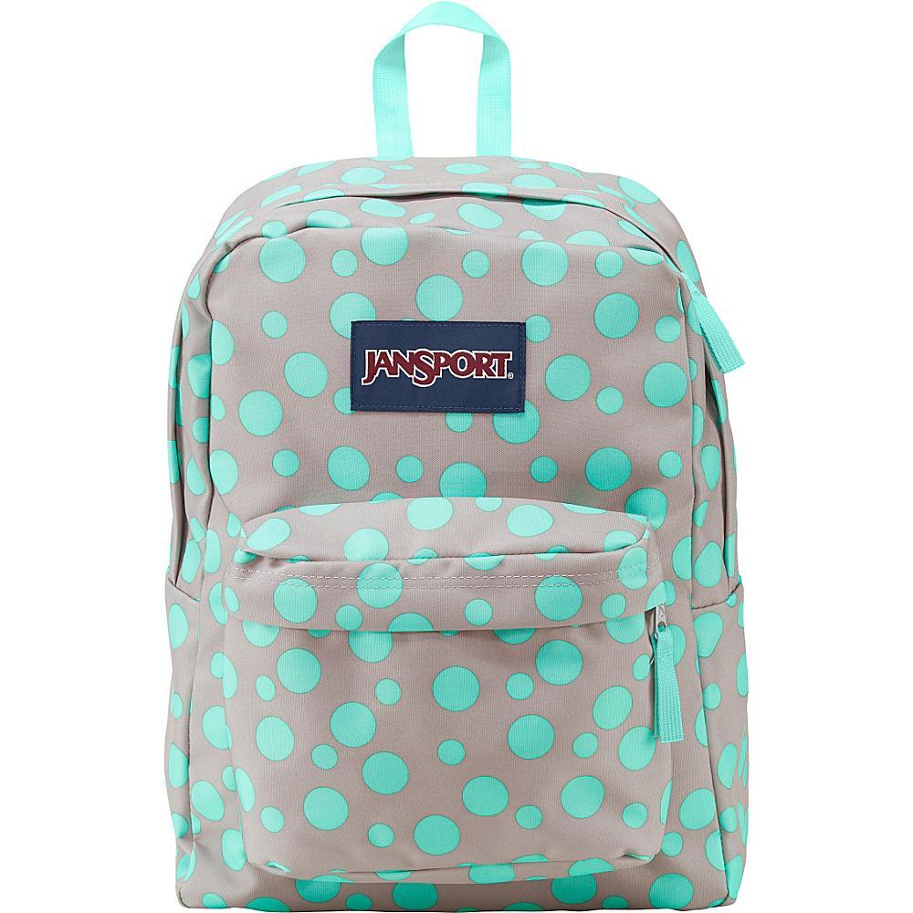JanSport Superbreak Backpack- Discontinued Colors Grey Rabbit Sylvia Dot - JanSport Everyday Backpacks - Backpacks, Everyday Backpacks