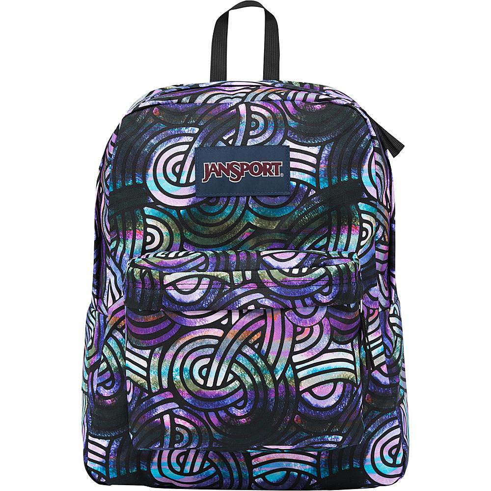 JanSport Superbreak Backpack- Discontinued Colors Multi Super Swirls - JanSport Everyday Backpacks - Backpacks, Everyday Backpacks