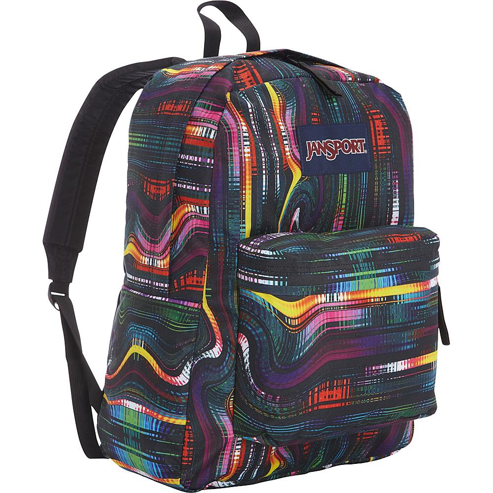 JanSport Superbreak Backpack- Discontinued Colors Multi Frequency - JanSport Everyday Backpacks - Backpacks, Everyday Backpacks