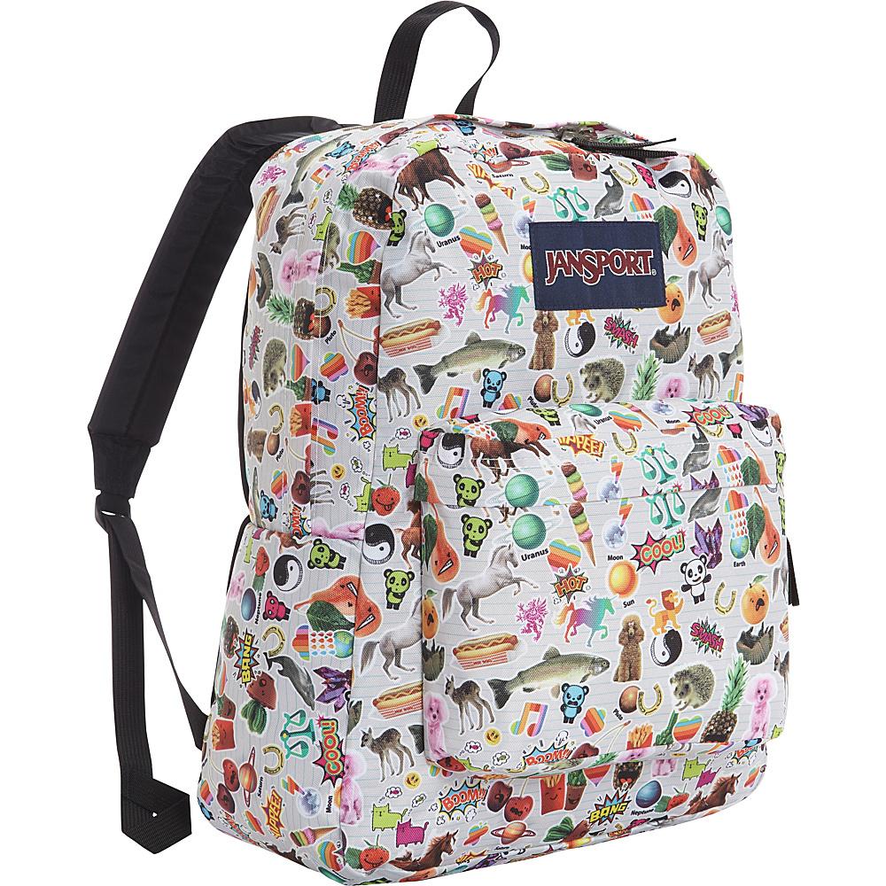 JanSport Superbreak Backpack- Sale Colors Multi Stickers - JanSport Everyday Backpacks