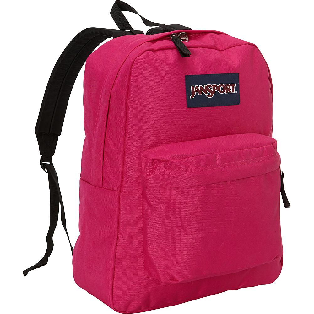 JanSport Superbreak Backpack- Discontinued Colors Cyber Pink - JanSport Everyday Backpacks - Backpacks, Everyday Backpacks