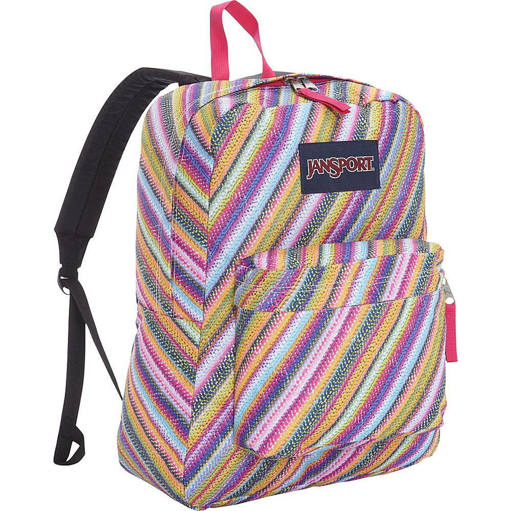 JanSport Superbreak Backpack- Sale Colors Multi Texture Stripe - JanSport Everyday Backpacks
