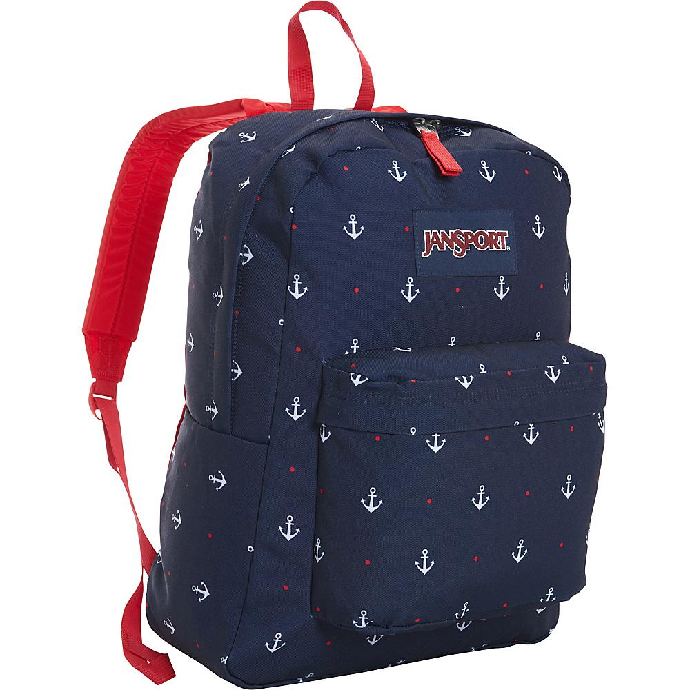 JanSport Superbreak Backpack- Discontinued Colors Red Tape / Land Ahoy - JanSport Everyday Backpacks - Backpacks, Everyday Backpacks