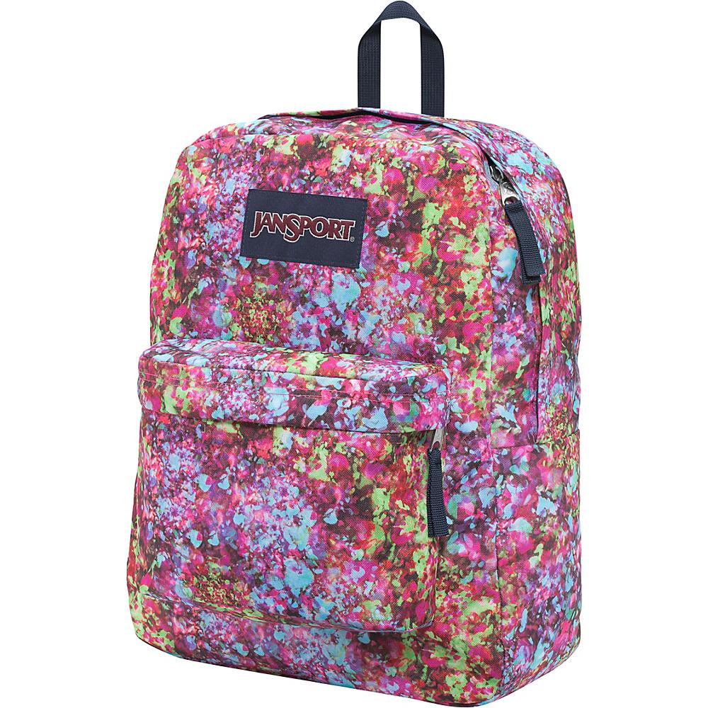 JanSport Superbreak Backpack- Discontinued Colors Multi Flower Explosion - JanSport Everyday Backpacks - Backpacks, Everyday Backpacks