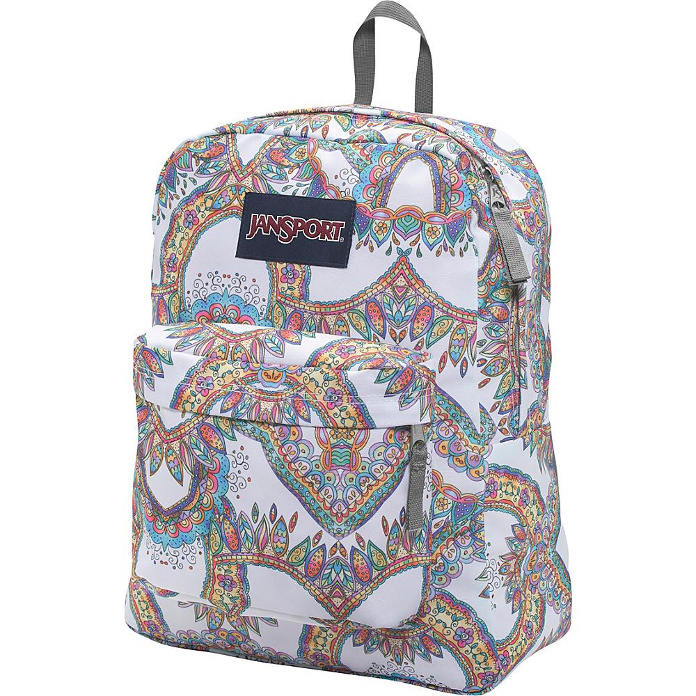 JanSport Superbreak Backpack- Discontinued Colors Multi Summer Festival - JanSport Everyday Backpacks - Backpacks, Everyday Backpacks