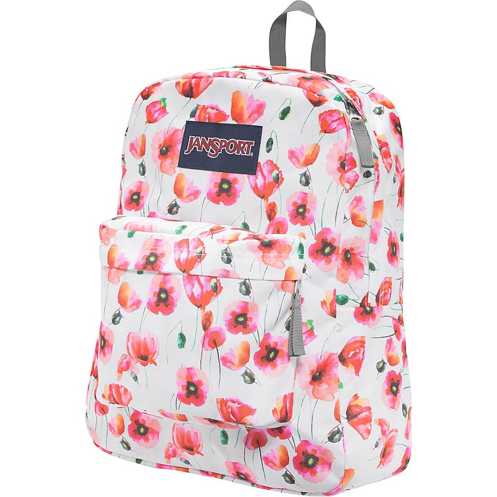 JanSport Superbreak Backpack- Discontinued Colors Multi Cali Poppy - JanSport Everyday Backpacks - Backpacks, Everyday Backpacks