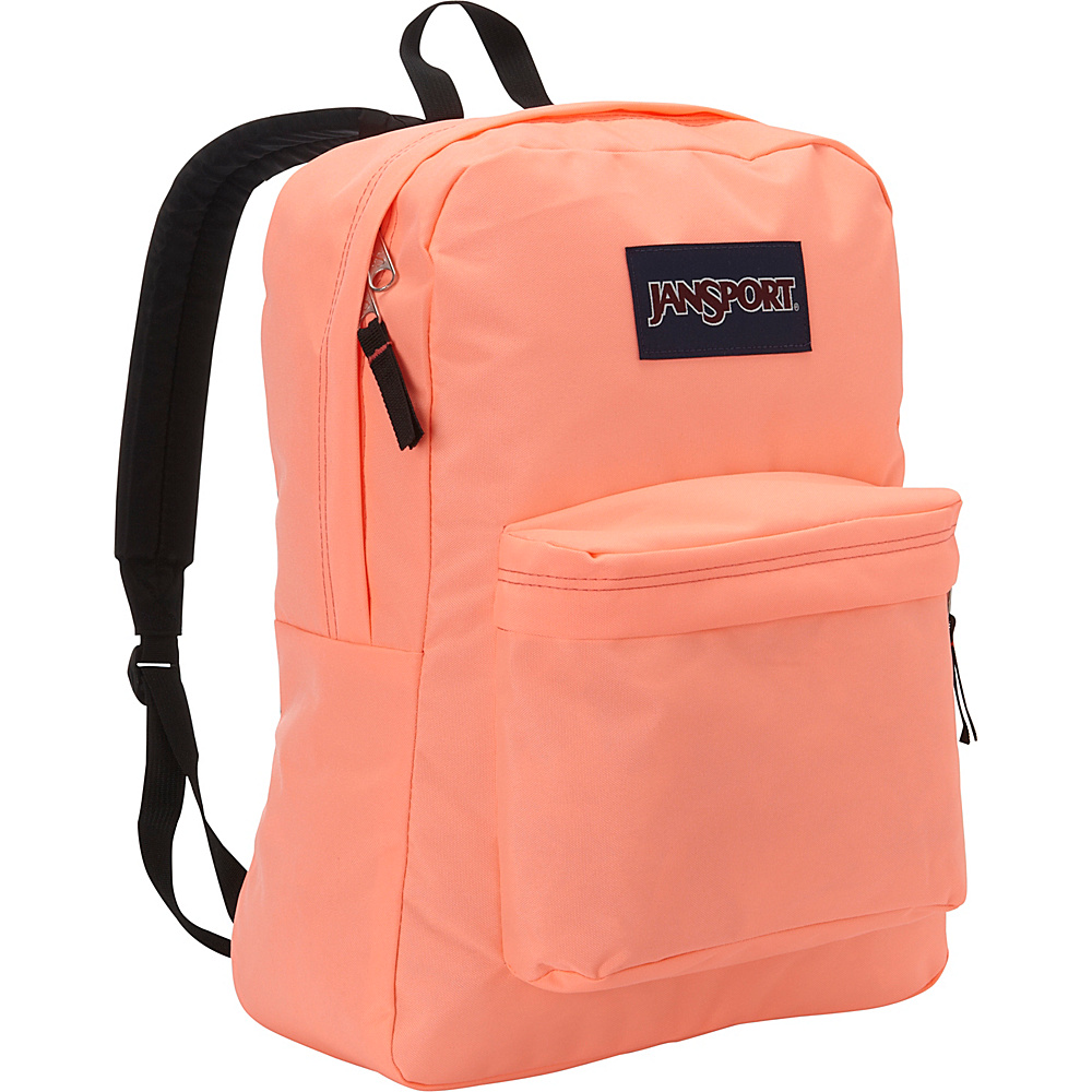JanSport Superbreak Backpack- Discontinued Colors Coral Peaches - JanSport Everyday Backpacks - Backpacks, Everyday Backpacks
