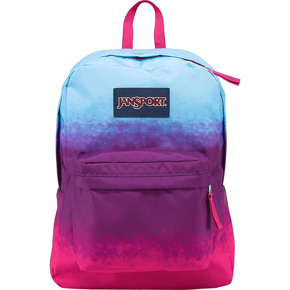 JanSport Superbreak Backpack- Discontinued Colors Purple Night Color Ombre - JanSport Everyday Backpacks - Backpacks, Everyday Backpacks