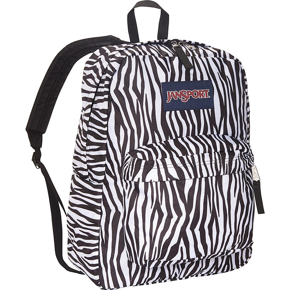 JanSport Superbreak Backpack- Sale Colors Black/White Zebra Stripe - JanSport Everyday Backpacks