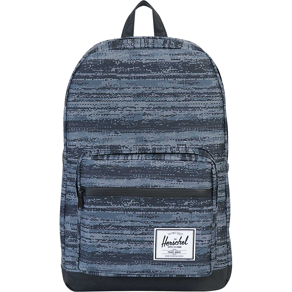 Herschel Supply Co. Pop Quiz Laptop Backpack Discontinued Colors White Noise Black Synthetic Leather Herschel Supply Co. Business Laptop Backpacks