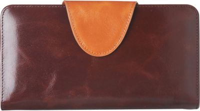Vicenzo Leather Maine Distressed Leather Clutch Brown - Vicenzo Leather Women's Wallets