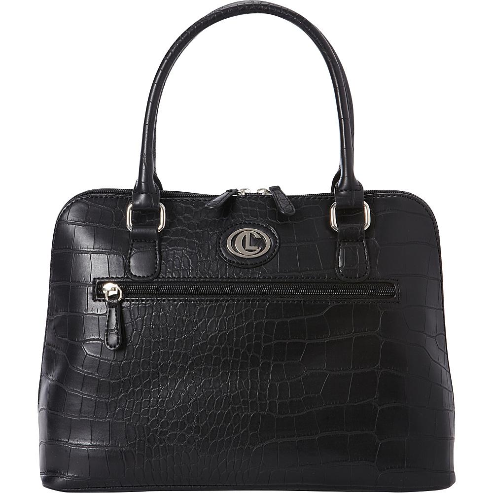 Aurielle Carryland Crocodile Dundee Satchel Black Aurielle Carryland Manmade Handbags