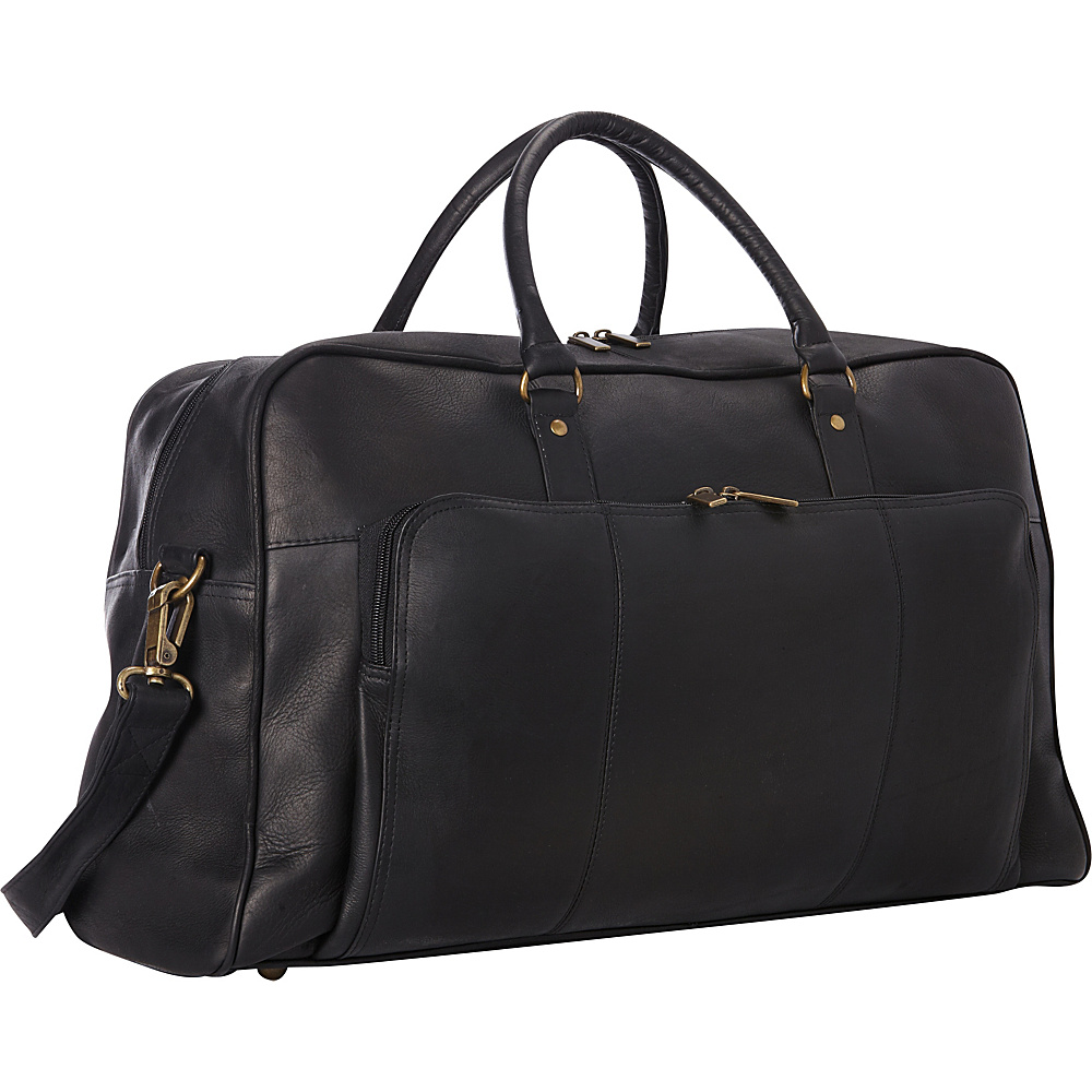 Le Donne Leather Frontier Duffel Black - Le Donne Leather Rolling Duffels - Luggage, Rolling Duffels