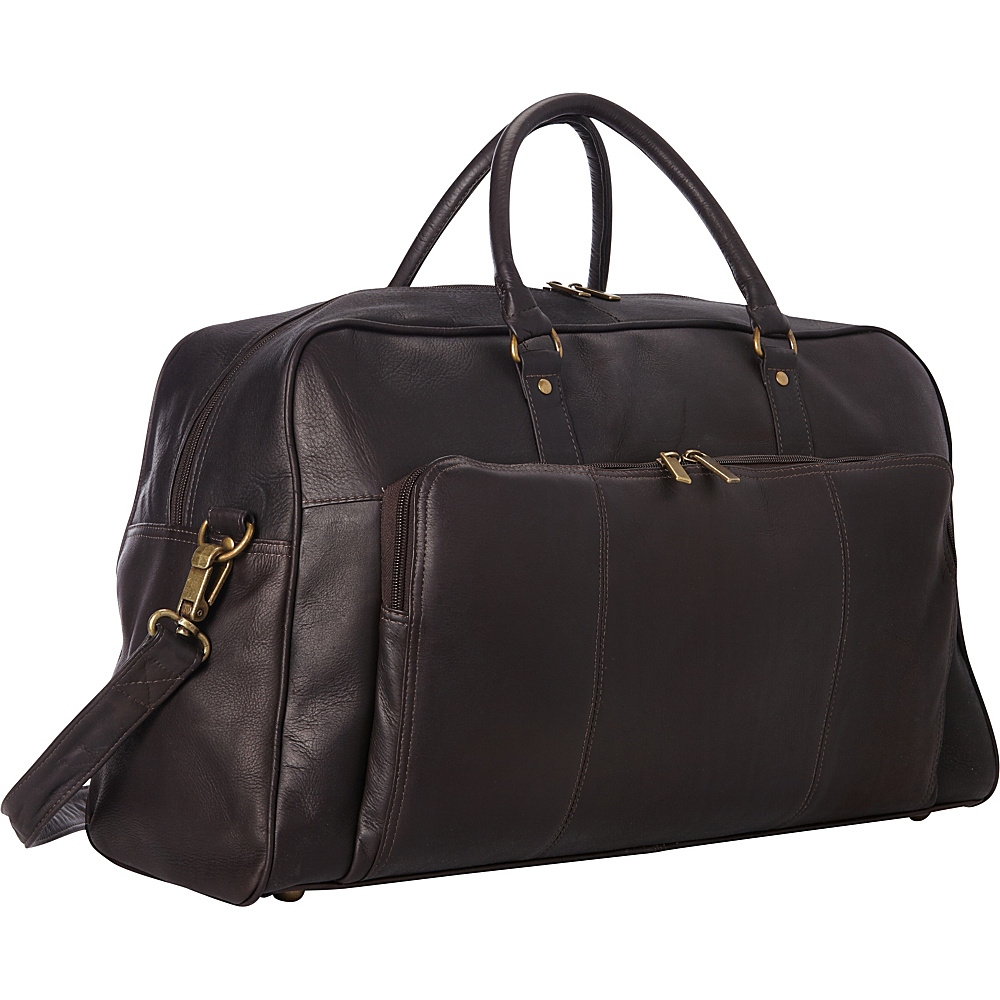 Le Donne Leather Frontier Duffel Cafe - Le Donne Leather Rolling Duffels - Luggage, Rolling Duffels