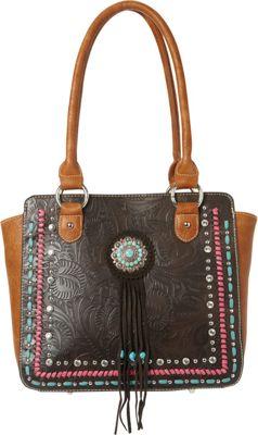 Montana West Concho Tote Bag Coffee - Montana West Manmade Handbags