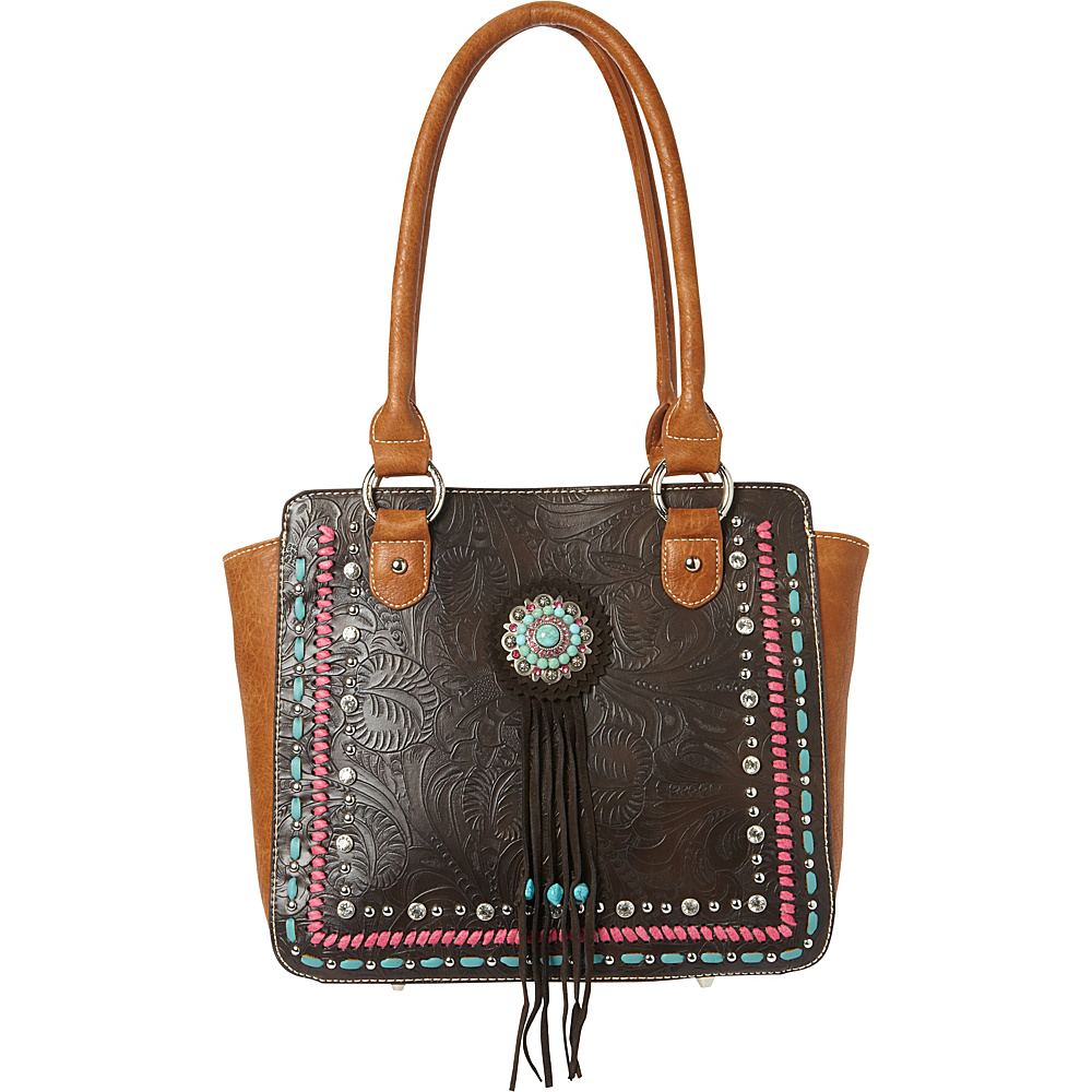 Montana West Concho Tote Bag Coffee Montana West Manmade Handbags