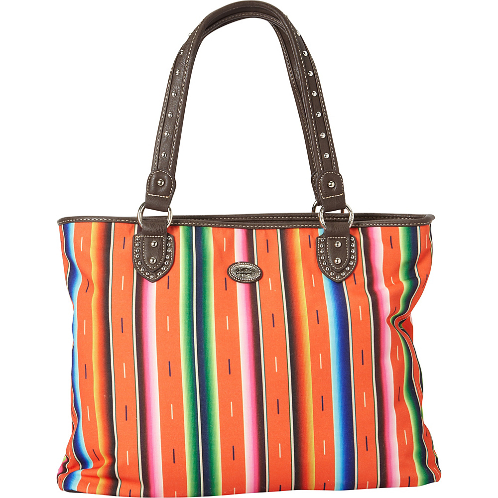 Montana West Serape Tote Coral Montana West Fabric Handbags