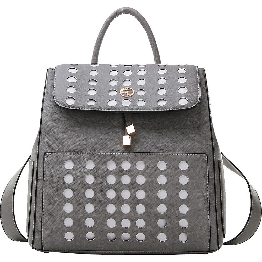 MKF Collection Hannah Backpack Grey - MKF Collection Manmade Handbags - Handbags, Manmade Handbags