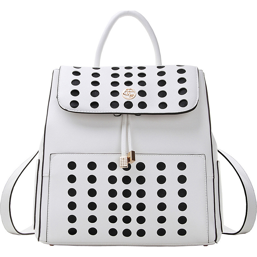 MKF Collection by Mia K. Farrow Hannah Backpack White - MKF Collection by Mia K. Farrow Manmade Handbags - Handbags, Manmade Handbags
