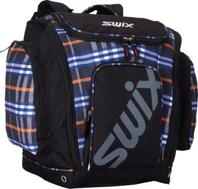Swix Asher Tri Pack Ski Boot Bag Asher Blue-Orange Plaid - Swix Ski and Snowboard Bags