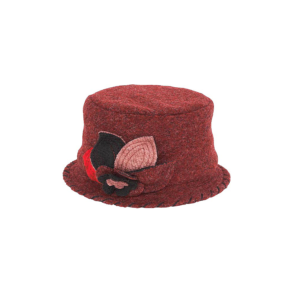 Adora Hats Wool Cloche Hat Burgundy Adora Hats Hats Gloves Scarves