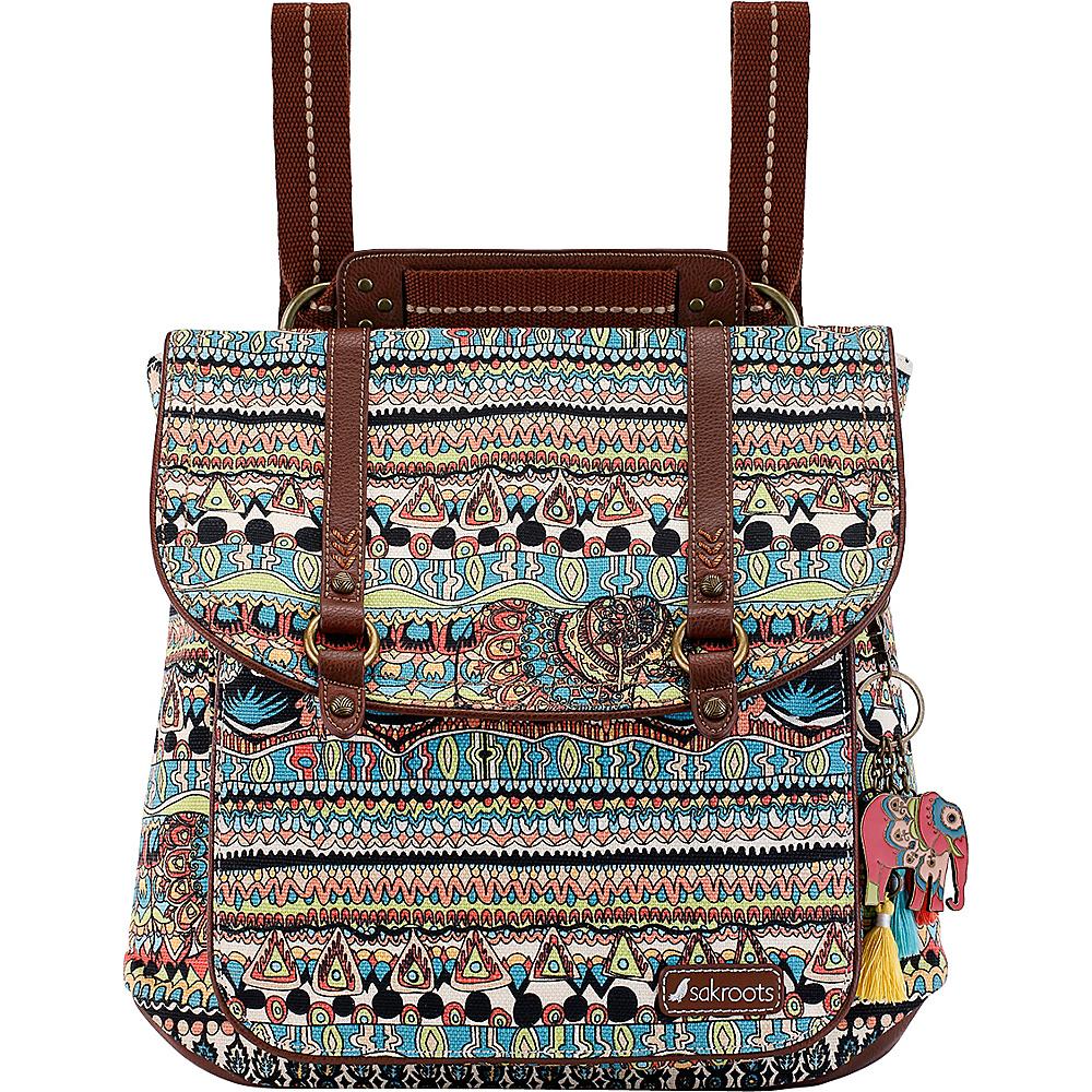 Sakroots Artist Circle Convertible Backpack Natural One World - Sakroots Fabric Handbags