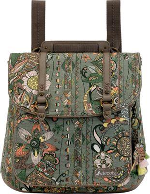 Sakroots Artist Circle Convertible Backpack Olive Spirit Desert - Sakroots Fabric Handbags