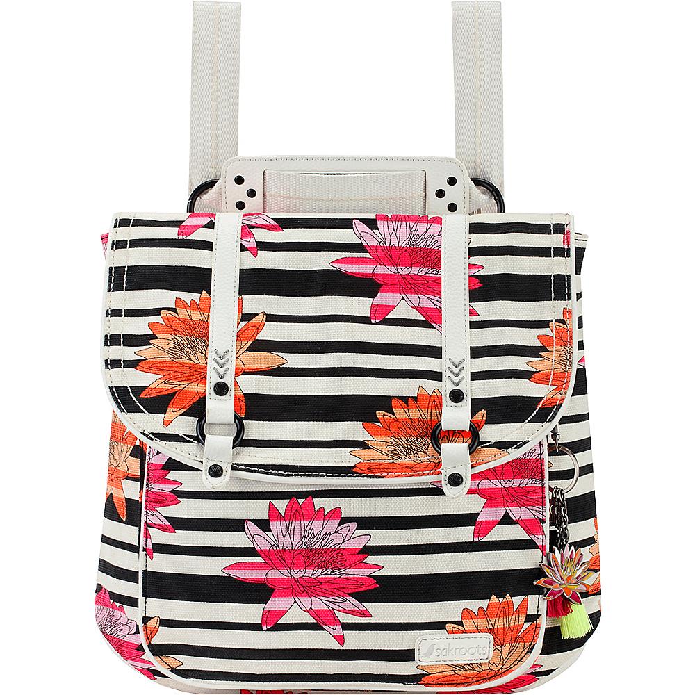 Sakroots Artist Circle Convertible Backpack Neon Zen Flower - Sakroots Fabric Handbags - Handbags, Fabric Handbags