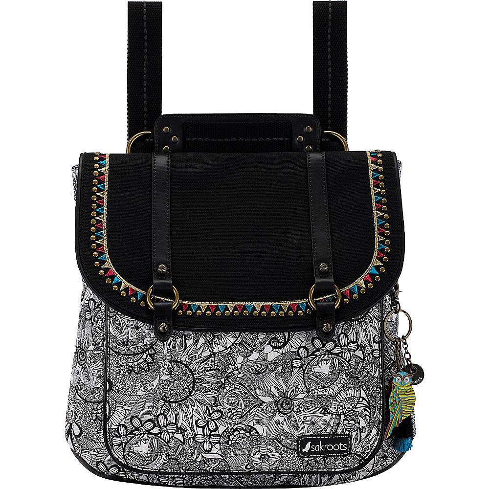 Sakroots Artist Circle Convertible Backpack Black & White Spirit Desert - Sakroots Fabric Handbags - Handbags, Fabric Handbags