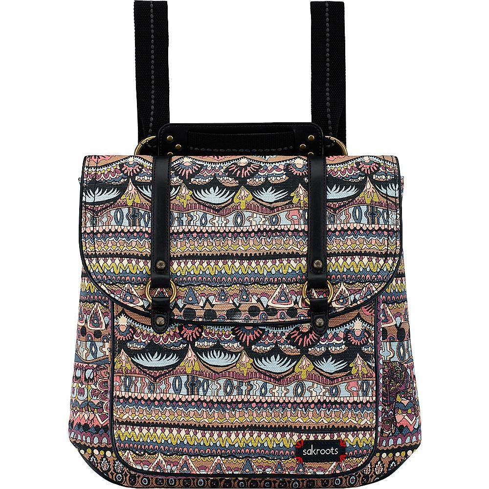 Sakroots Artist Circle Convertible Backpack Taupe One World - Sakroots Everyday Backpacks - Backpacks, Everyday Backpacks